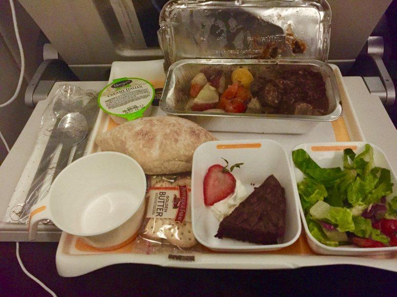 """""""Beef"""" flight meal"""