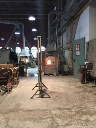 Factory interior with ovens