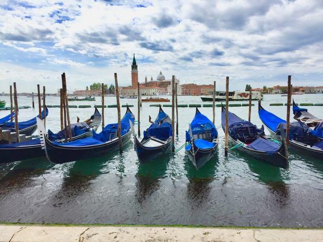 Gondolas along Grand Canal