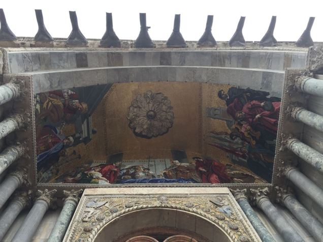 View above before entering Basilica. No photos inside.