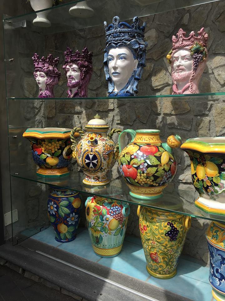 Elaborate ceramics.