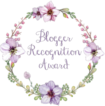 Blogger Recognition Award Purple Flowers