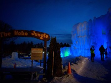 Ice Castles Entrance at Night The Hobo Jungle