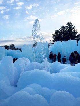 This fountain isn't frozen!