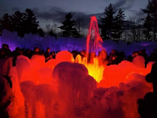 Fountain again at night