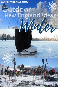 #Winter #NewEngland #OutdoorActivities #Skiing #Skating #Sledding #Ice Castles Recommendations for local area fun to enjoy winter!