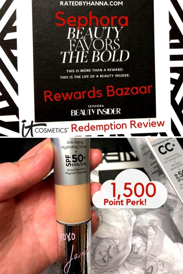 #Sephora #Beauty #RewardsBazaar #ItCosmetics Beauty Insider Points Redemption 1,500 point perk